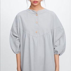 Zara Oversized Button Shirt Dress